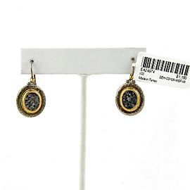 Gurhan Moonscape Sliced Diamond Sterling 24k Gold Hook Dangle Earrings