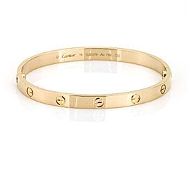 Cartier 18k Pink Gold New Style Love Bracelet Size 19
