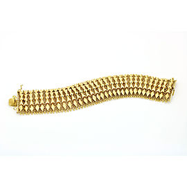 18k Yellow Gold Italian Mesh Link Bracelet