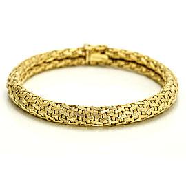 18k Yellow Gold Woven Chain Bracelet