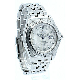 BREITLING WINDRIDER COCKPIT AUTOMATIC STAINLESS STEEL 41mm MEN'S WATCH A49350