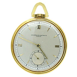 VACHERON & CONSTANTIN 18K YELLOW GOLD OPEN-FACED ULTRA THIN WATCH REF: 4091