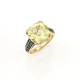LeVian Diamond Citrine & Tsavorite 14k Yellow Gold Cocktail Ring
