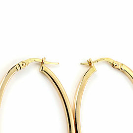 Roberto Coin Long Oval 18k Yellow Gold Hoop Earrings