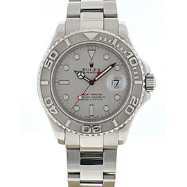 Rolex 16622 Yachtmaster Stainless Steel Platinum Bezel Men's Watch