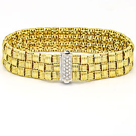Roberto Coin 18k Yellow Gold Appasionata Diamond Clasp 3 Row Bracelet