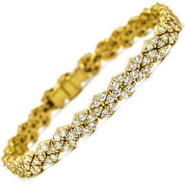 Hammerman Brothers 3.50 Carat 18k Yellow Gold Diamond Tennis Bracelet