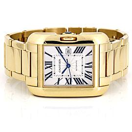 Cartier Tank Anglaise 18k Yellow Gold Women's Automatic Watch W5310015