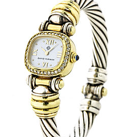David Yurman Diamond Cable Classics Watch in 18k Gold Sterling Silver