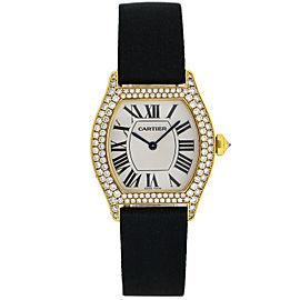 Ladies Cartier 18k Yellow Gold Diamond Tortue Watch WA503751