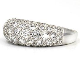 1.10 Carat 18k White Gold Bombe Diamond Band Ring