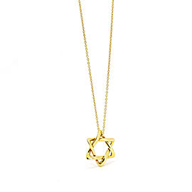 Tiffany & Co. Elsa Peretti Star of David Necklace in 18k Yellow Gold