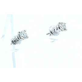 ESTATE 14k White Gold .40ct Round Diamonds Ladies Stud Earrings