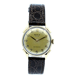 BENRUS 3-STARS AUTOMATIC 10K GOLD FILLED S/S CASE MEN'S WATCH