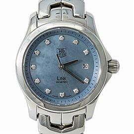 Tag Heuer Link WJF131D Womens Quartz Watch Mother Of Pear Dial SS 27mm