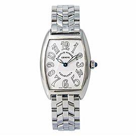 Franck Muller Curvex Casablanca 1752QZ Lady Quartz Watch SS White Dial 25MM
