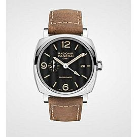 Panerai Radiomir GMT PAM00657 Automatic Men's Watch Black Dial 45mm w/Box