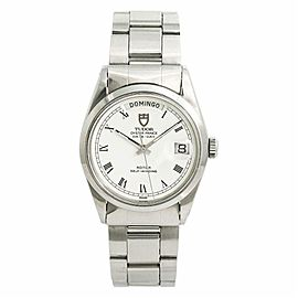 Tudor Date-Day 94500 Mens Automatic Vintage Watch White Spider Dial 36mm