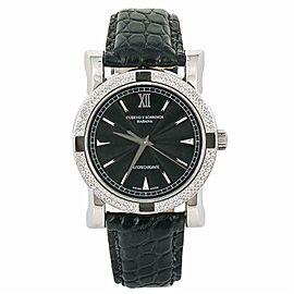 Cuervo Y Sobrinos Classic Driver A.2912 Men's Automatic Watch Diamond Bezel 39MM