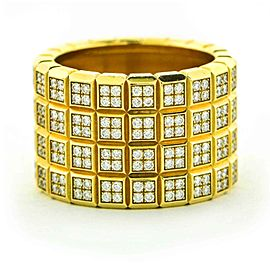 Chopard Four-Row Ice Cube Diamond Pave Band Ring in 18k Yellow Gold, Size 7.5