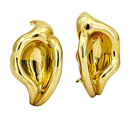Tiffany & Co. Elsa Peretti Calla Lily Clip-On Earrings in 18k Yellow Gold