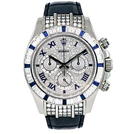 Rolex 116599 Daytona 18k White Gold with Diamonds and Sapphires