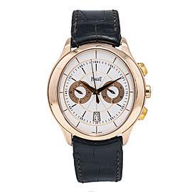Piaget Black Tie Gouverneur GOA37112 18K Rose Gold Oval Dial Men's Watch 43mm