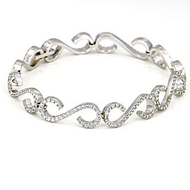 Women's Diamond S Link Bracelet in 14k White Gold ( 2.75 ct t.w. )