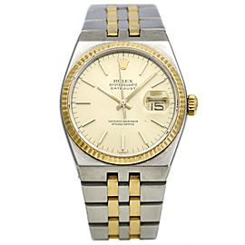Rolex Men's DateJust Quartz Watch in Stainless Steel and 18k Yellow Gold 17013