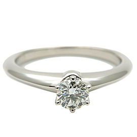 Tiffany & Co. 0.20t Platinum Solitaire Diamond Ring