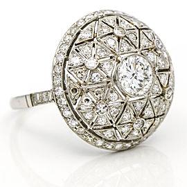 Diamond Bombee Art Deco Style Cocktail Ring in Platinum (1.95 ct tw) Size 7.5