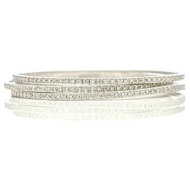 Diamond Eternity Bangle Bracelet in Platinum Signed Ed ( 1.70 ct tw )