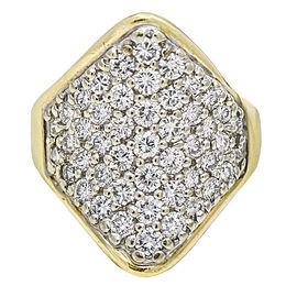 Women's Pave Diamond Saddle Ring in 14k Yellow Gold ( 2.00 ct tw )
