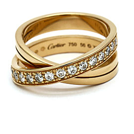 Diamond Étincelle de Cartier Crossover Ring in 18k Rose Gold Size 56