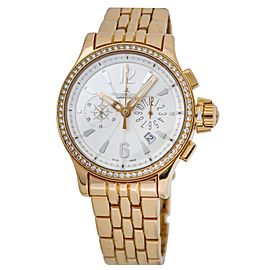 Jeager Le-Coultre Master Compressor Chronograph Diamond Women's Watch 148.2.31