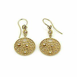 Roberto Coin Moresque Yellow Gold Diamond Dangle Hook Earrings