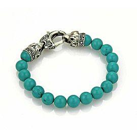 Stephen Webster London Calling 10mm Turquoise Bead Sterling Silver Bracelet