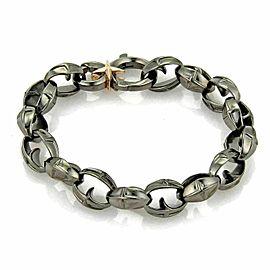 Stephen Webster Highwayman Men's Sterling Silver Black Rhodium Link Bracelet