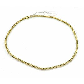 Nouvelle Bague Hammered 18k Yellow Gold Beaded Chain Necklace