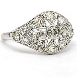 Art Deco Diamond Antique Ring in Platinum ( 1.93 ct tw )