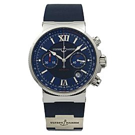Ulysse Nardin Maxi Marine Chronograph Blue Automatic Men's Watch 353-66-3/323