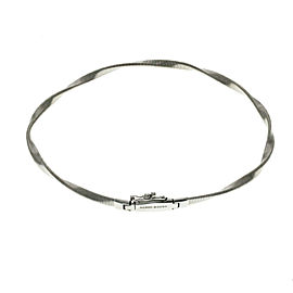 Marco Bicego Marrakech Collection 18k White Gold Stackable Bracelet Size 7""