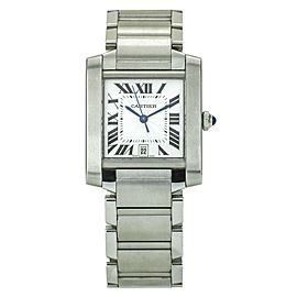 Cartier Tank Francaise Large Automatic Stainless Steel Men's Watch W51002Q3