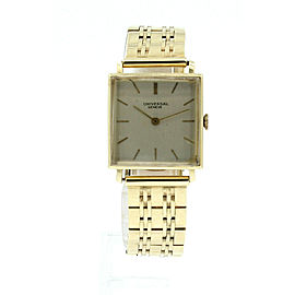 Vintage Universal Geneve 14K Yellow Gold Mechanical Square Men's Watch 57.3g