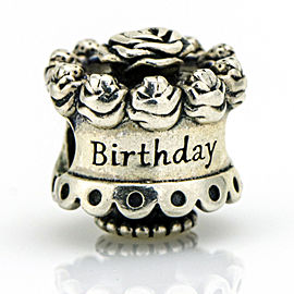 Pandora Sterling Silver Happy Birthday Charm