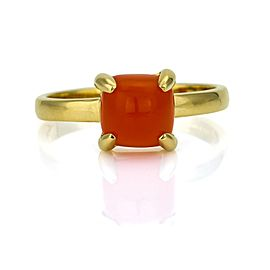 Tiffany & Co. Paloma Picasso Sugar Stack Carnelian Ring in 18k Yellow Gold