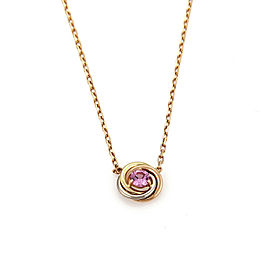 Cartier Pink Sapphire Trinity 18k Tricolor Gold Pendant