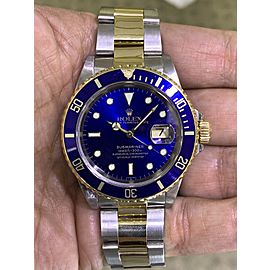 Rolex Submariner 16613 Two Tone Bluesy Automatic Watch