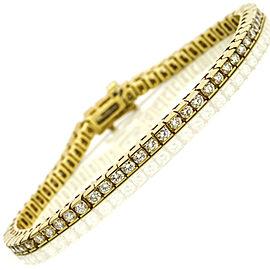 Channel Set Diamond Tennis Bracelet in 14k Yellow Gold ( 3.75 ct tw )