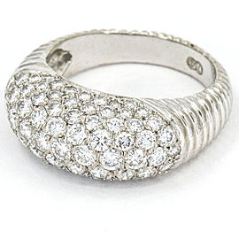 Pave Diamond Dome Ring in 18k White Gold ( 2.60 ct tw )